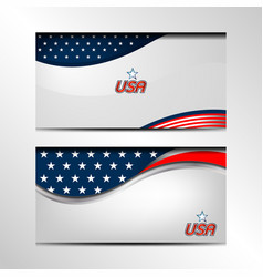 Usa banner background vector