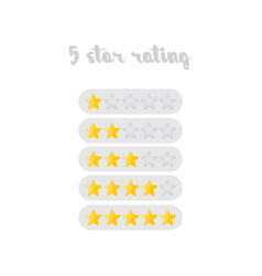 Five star rating design isolated vector