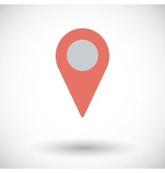 Map pointer single icon vector