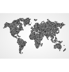 Dotted round world map abstract vector