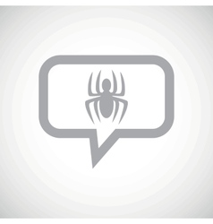 Spider grey message icon vector