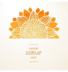 Watercolor sunflower background vector