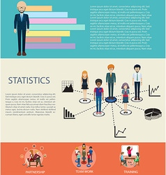 Business infographic design with elements vector