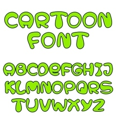 Green cartoon font vector
