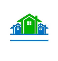 House for real estate logo vector