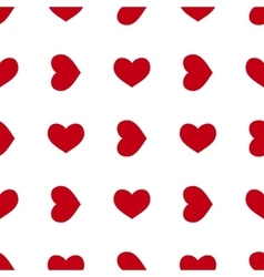 Seamless red heart vector