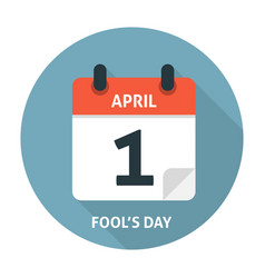 Calendar flat icon april 1 fools day vector