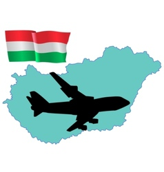 Fly me to the hungary vector