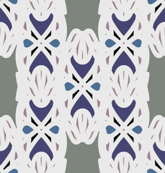 White and blue ornament seamless pattern vector