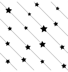 Stars on line seamless pattern vector