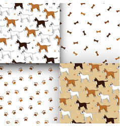 Awesome set of seamless patterns with cute vector