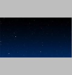 bright stars on dark night sky vector image vector image