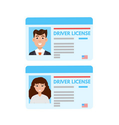Car driver license or id cadr vector