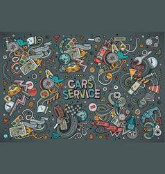Cartoon set of automobile designs vector