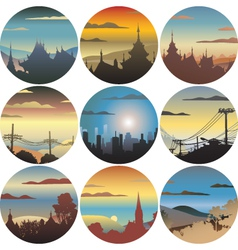 Circular views vector image vector image
