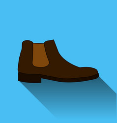 classic chelsea shoe style boot icon with long vector image vector image