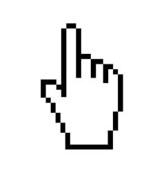 Cursor arrow click technology electronic icon vector