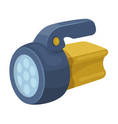flashlighttent single icon in cartoon style vector image vector image