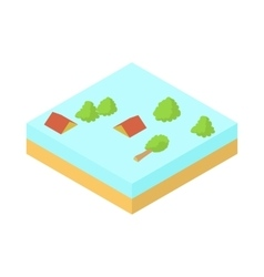 Flood icon in cartoon style vector