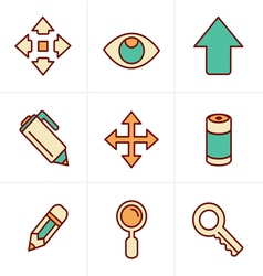 Icons Style Set of Icons Set Design vector image