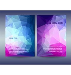 Low polygonal triangular blue vector image vector image
