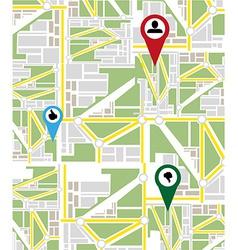 Map navigation background vector image vector image