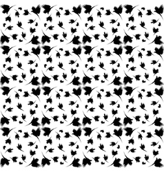 Monochrome pattern with imitation feathers vector
