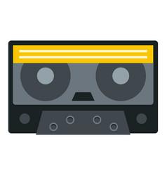 Retro cassette tape icon isolated vector