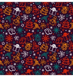 seamless pattern joyful Christmas vector image vector image