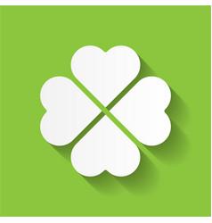 shamrock - white four leaf clover icon good luck vector image