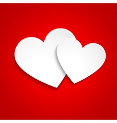 Simple paper hearts vector image vector image