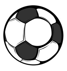 soccer ball icon cartoon vector image vector image