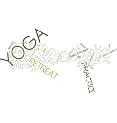Yoga retreat text background word cloud concept vector