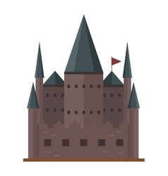 Castle tower building vector