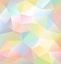 Pastel full color spectrum polygon triangular vector