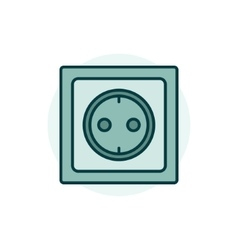 Power socket colorful icon vector