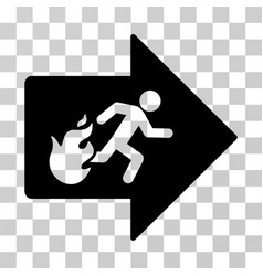 Fire exit icon vector