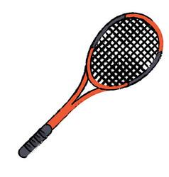tennis racket sport icon vector image