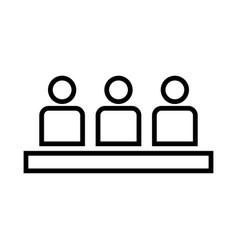 Board meeting - business concept black color icon vector