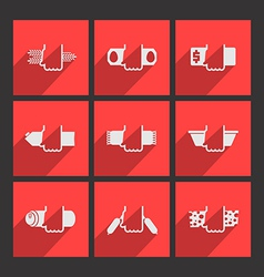 Foodstuffs flat icons set vector