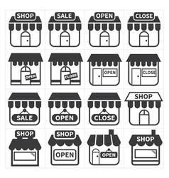 shop and store icon vector image