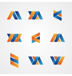 Colorful set of abstract creative logos vector