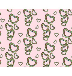 Candy heart pattern vector
