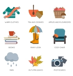 Autumn objects vector