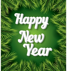 Happy new year card with white text vector