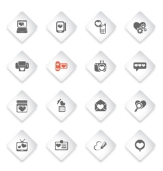 Love messages icon set vector
