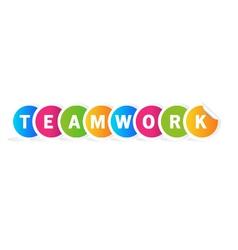 Teamwork word vector image