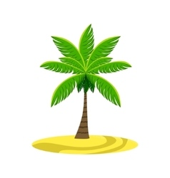 Single palm tree on the beach vector