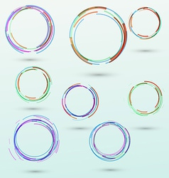 Abstract circle design elements collection vector image