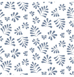 abstract leaves seamless pattern vector image vector image
